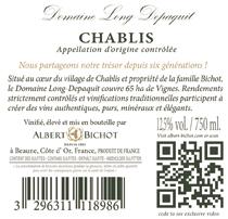 contre étiquette vin bourgogne Albert Bichot avec QR Code