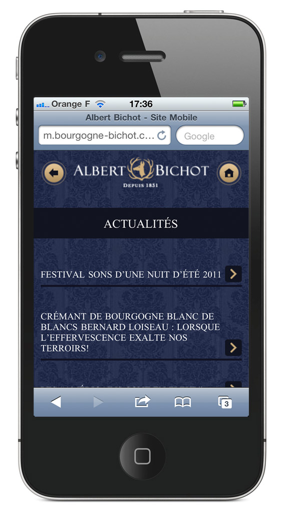 Site Mobile Albert Bichot