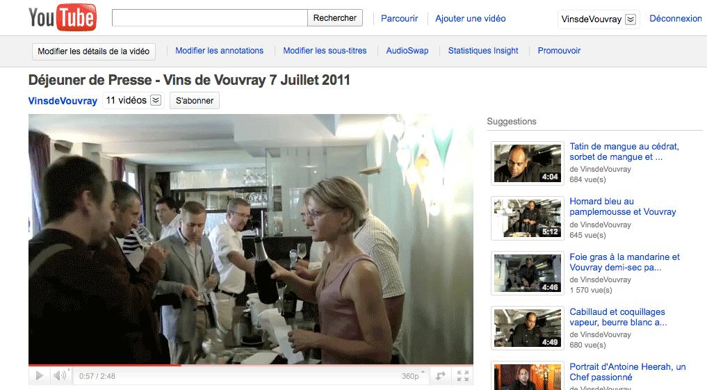 Vidéo Youtube du déjeuner de presse réalisée par Monogramme