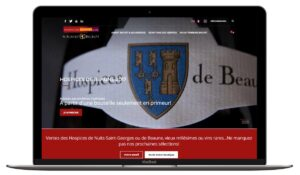 luxury webdesign wine burgundy